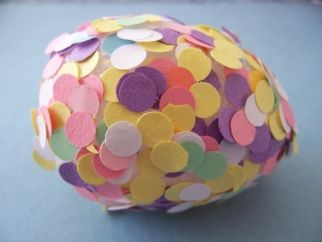 Punching paper pasted easter eggs also unique egg designs  creative dyeing and decorating ideas rh pinterest