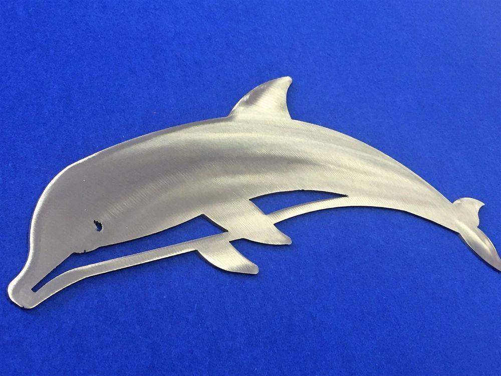 Dolphin Metal Wall Art Ocean Nautical Marine Sea Life Beach House