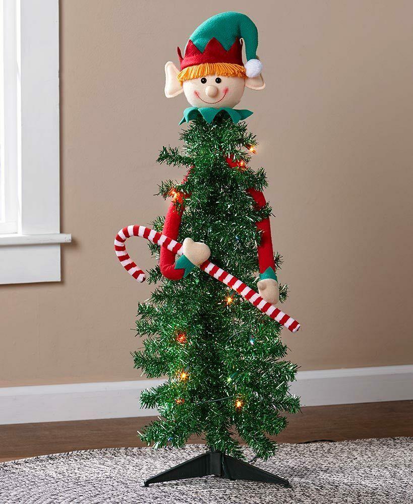 Character Christmas Tree Ideas 2020 Prelit Lighted Character Christmas Tree Holiday Home Decor   Elf