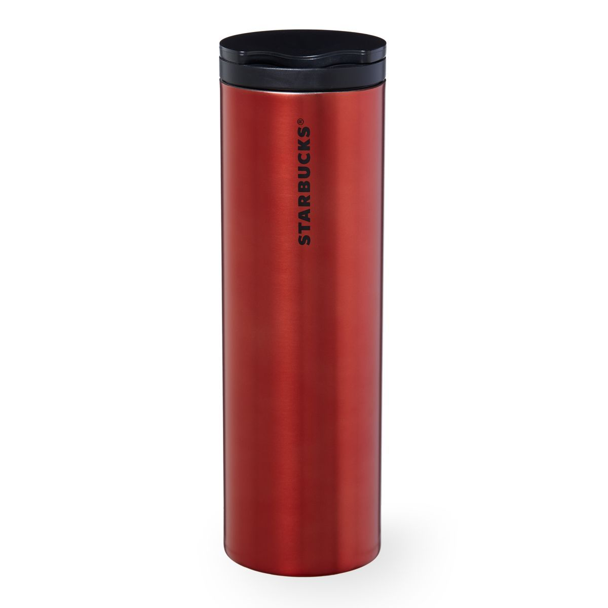 Stainless steel ornaments - A Slender Stainless Steel Coffee Tumbler With A Rich Red Sheen