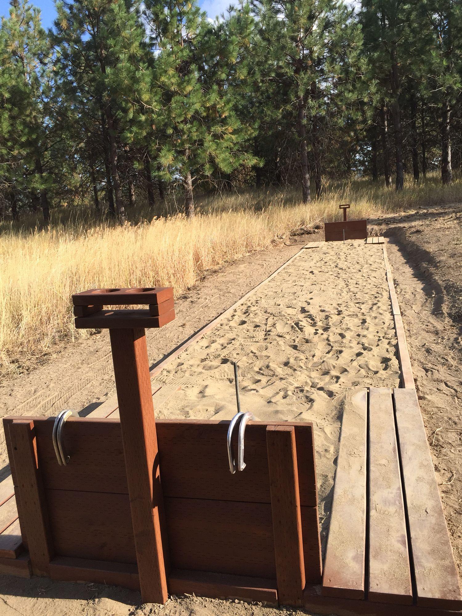 Horseshoe pit. | Horseshoe pit, Backyard projects ...