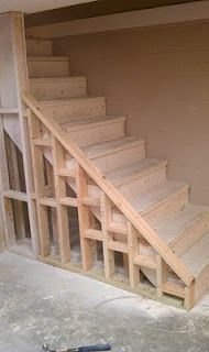 Building stairs projects to try pinterest building for Finishing a basement step by step guide