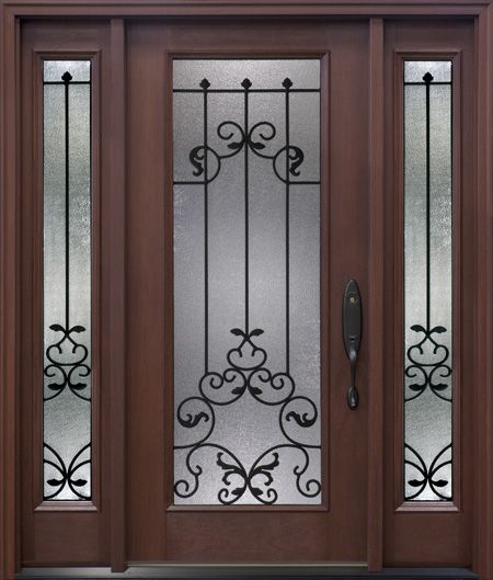 Oak Arbor Grille: The Arbor Grove Collection Fiberglass Entry Door Features