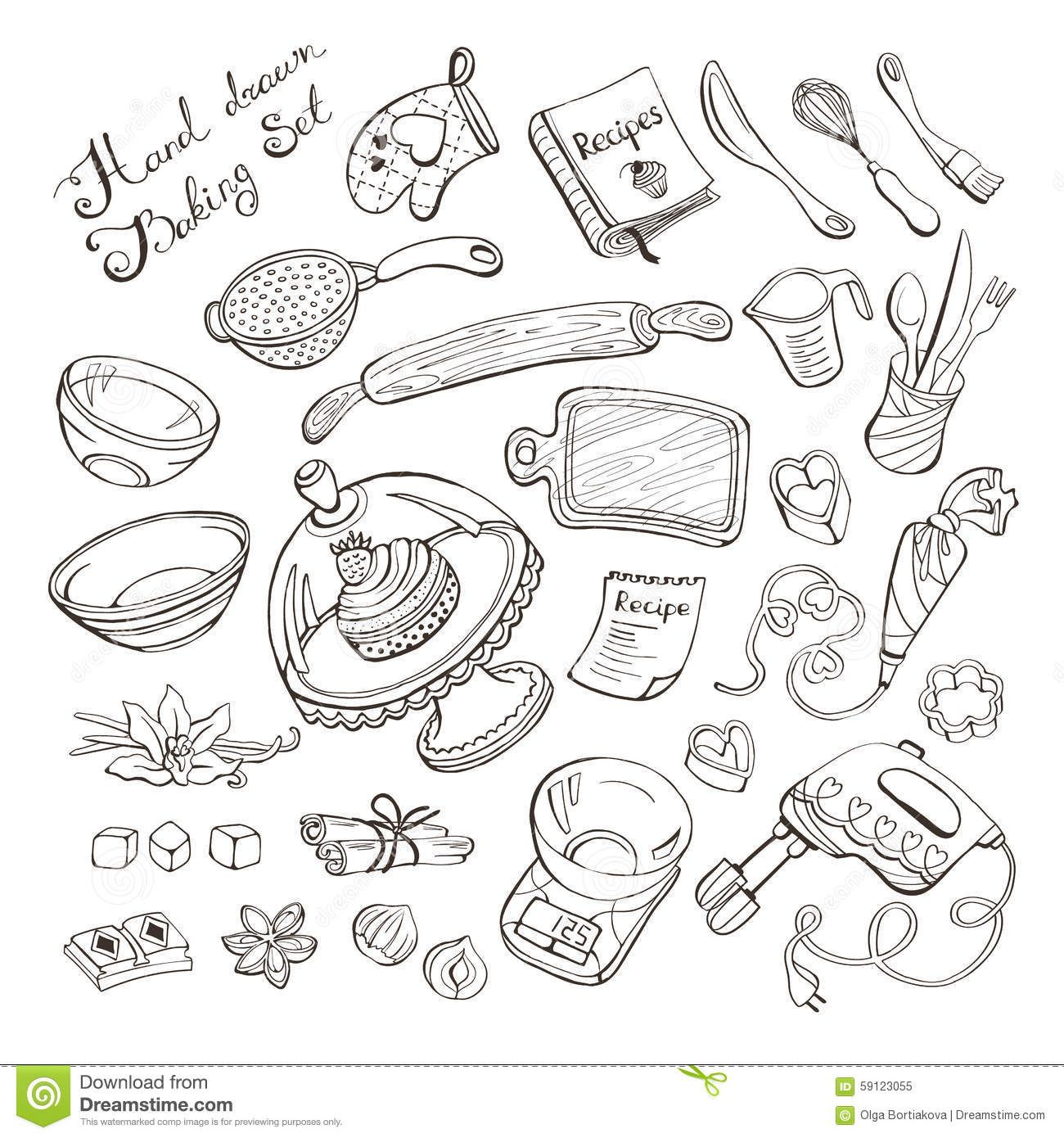 Baking Doodle Illustrations