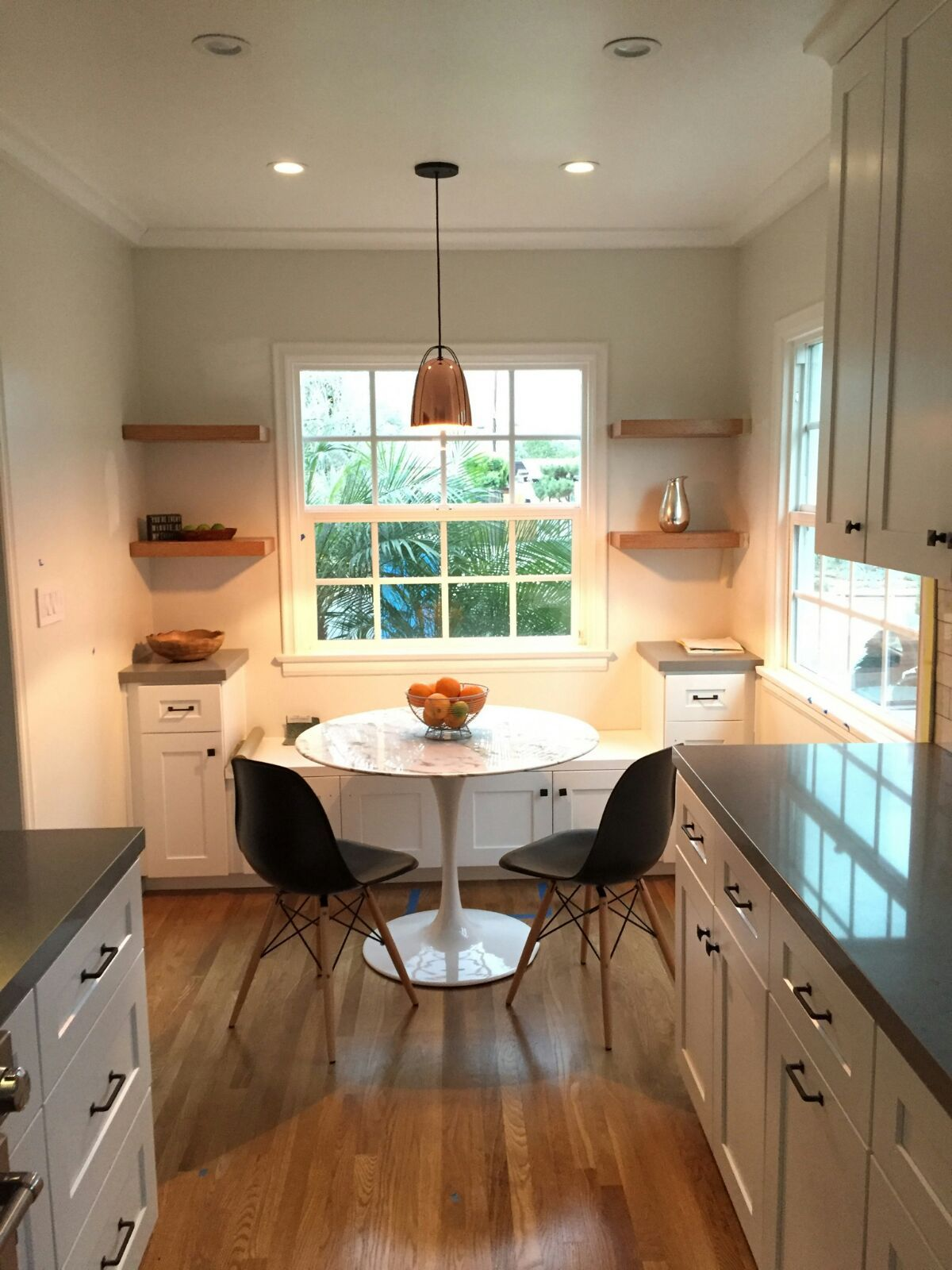 Galley Kitchen Breakfast Nook Remodeling By Lightning Construction Design View The Full Project