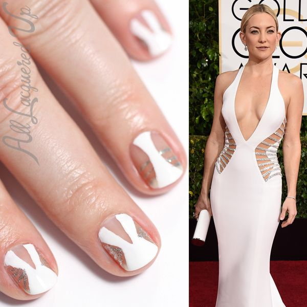 Golden Globes - Negative Space Nails Inspired by Versace | Negative ...