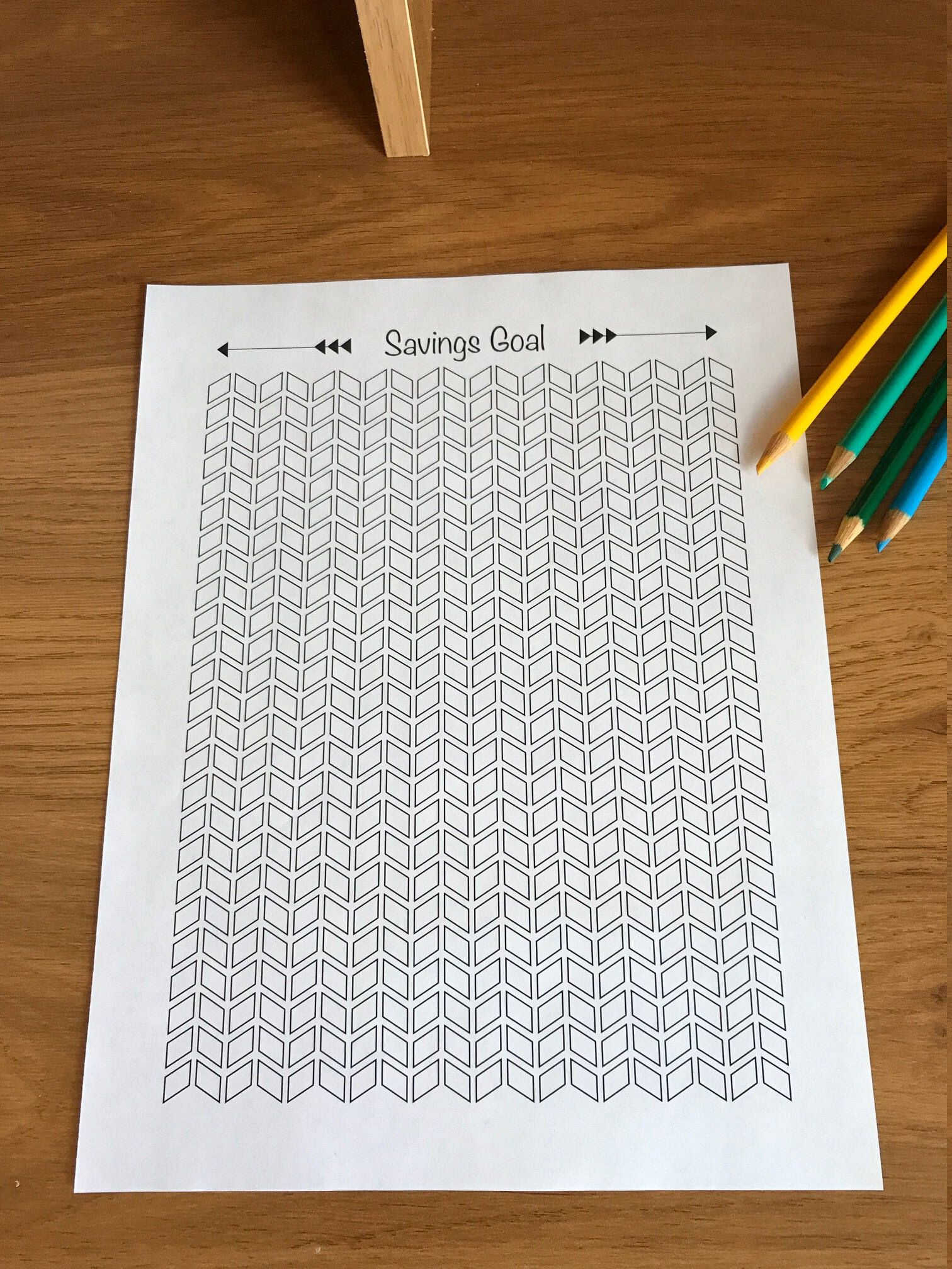 Savings Tracker Printable Coloring Sheet