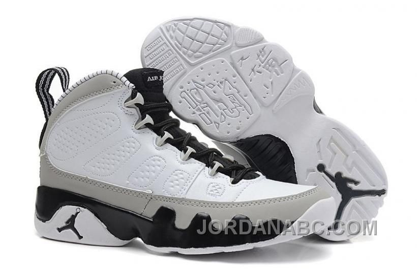 arrives 2b596 70898 ... vit svart wolf grå  retro aj 9 birmingham barons nike jordan brand wolf  grey black and white colorway womens training