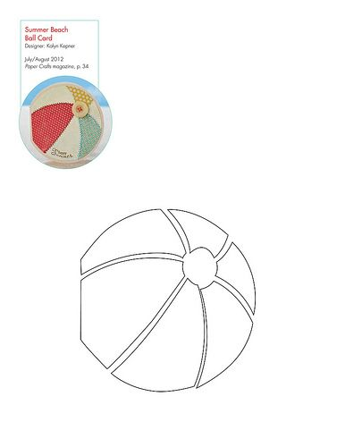 free beach ball pattern template patterns for cards card bases