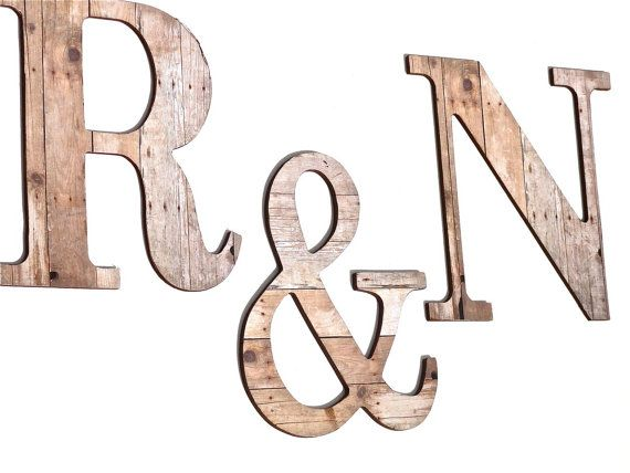 Rustic Look Letters Wall Decorative By Compulsivecollection 98 00 Decorative Letters Letter Wall Wooden Letters