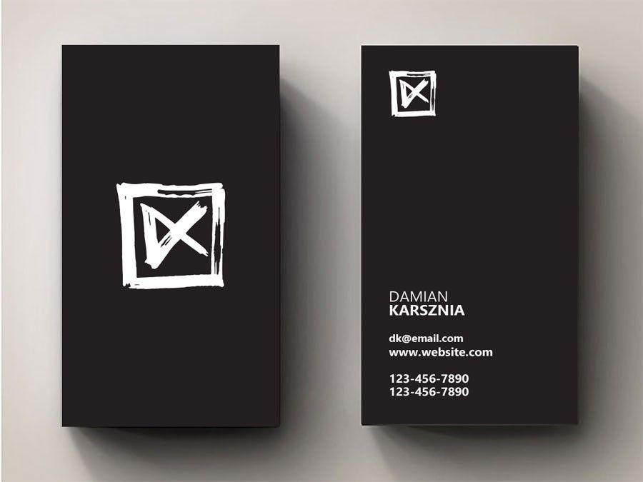 create a new logo for me as a filmmaker videoartist damian karsznia by yarsdesign - Filmmaker Business Card