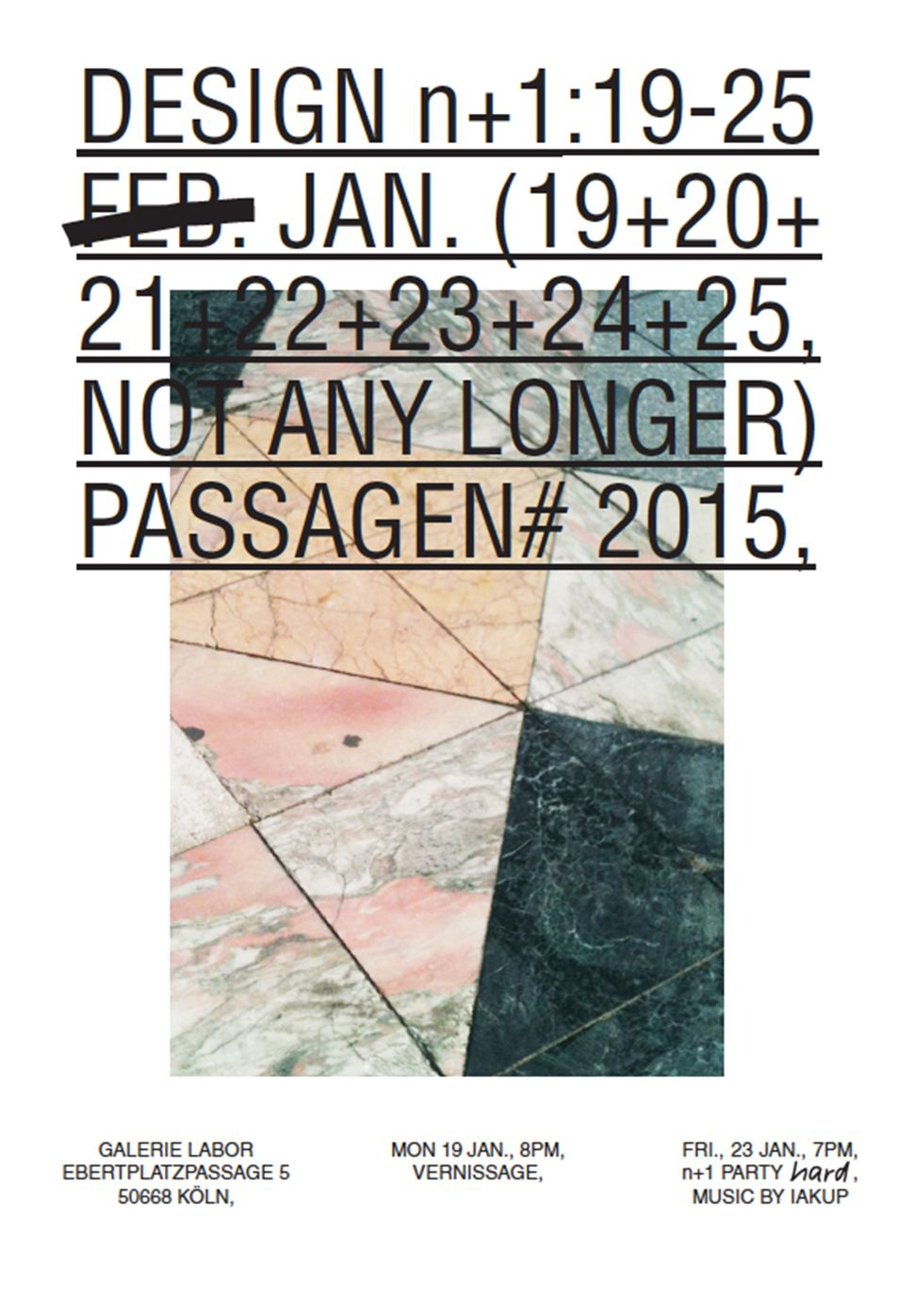 Design N 1 By Koln International School Of Design Kisd For Passagen