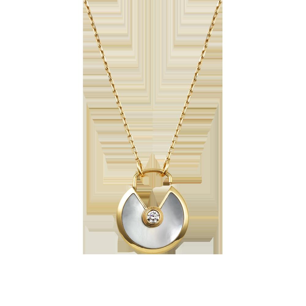 Amulette de Cartier necklace - top lock - Yellow gold ...