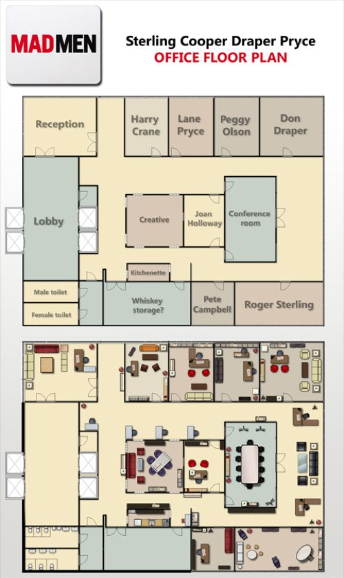 Mad Men Office Floor Plan Of Sterling Cooper Draper Pryce Office Floor Plan