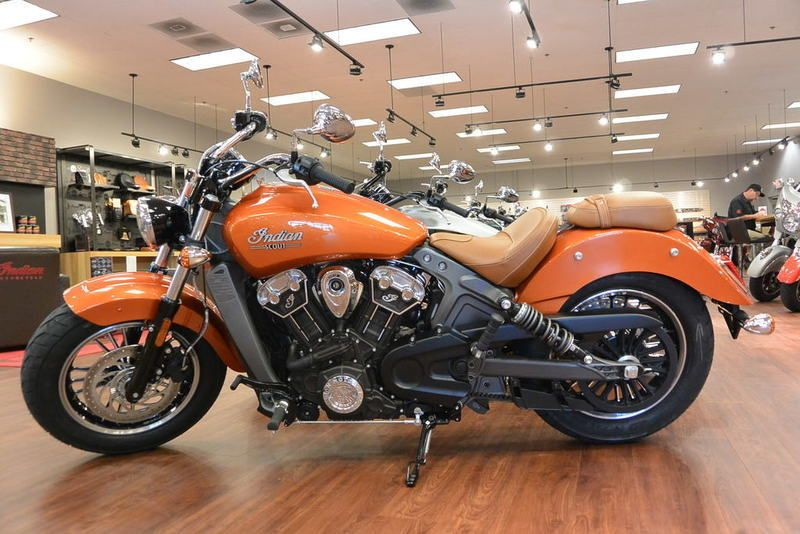 2018 Indian Motorcycle Scout Icon Abs Sunblaze Orange Concord Nc