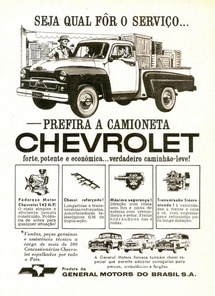 1960 Chevrolet 3100 Pickup Brazil Caminhonetes Antigas