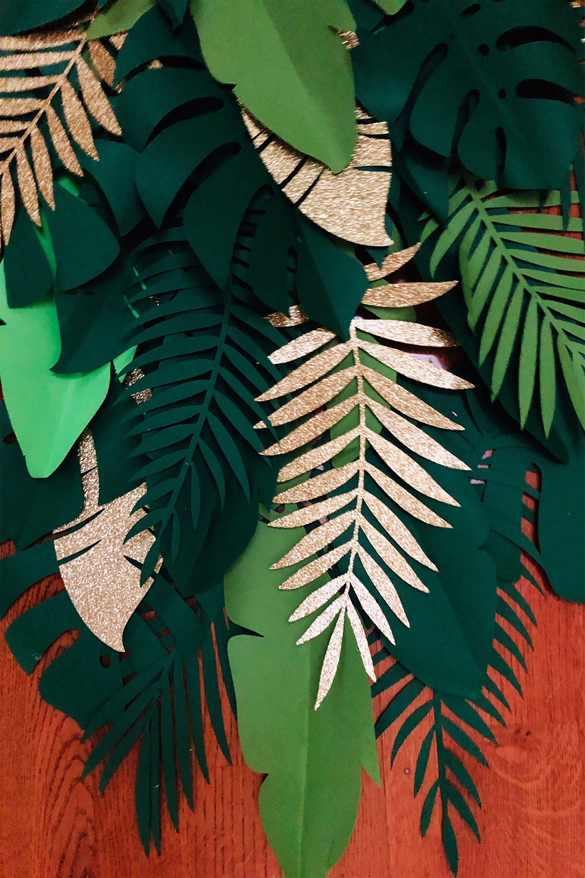 Large Lightweight Assorted Monstera, Ferns & Banana Leaves. Ideal for Jungle / Safari Theme Birthday Party, Tropical Theme Event. Set of 22 #decorateshop