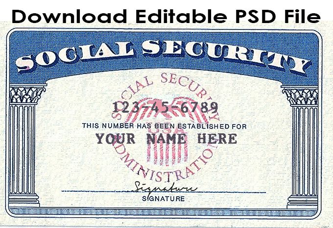 Download social security card template psd file. Link ...