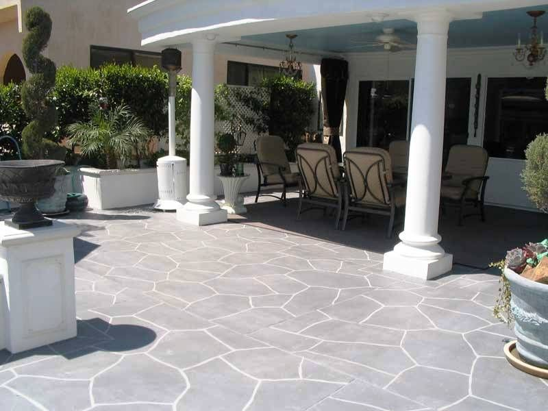 Stamped Concrete Patio Designs. Stamped Tampa Bay Concrete Using An Elegant  Pattern. Add Realistic