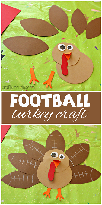football turkey craft great thanksgiving craft for kids to make