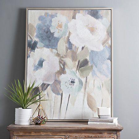 Elegant Flowers Framed Canvas Art Print   Elegant flowers, Flower ...