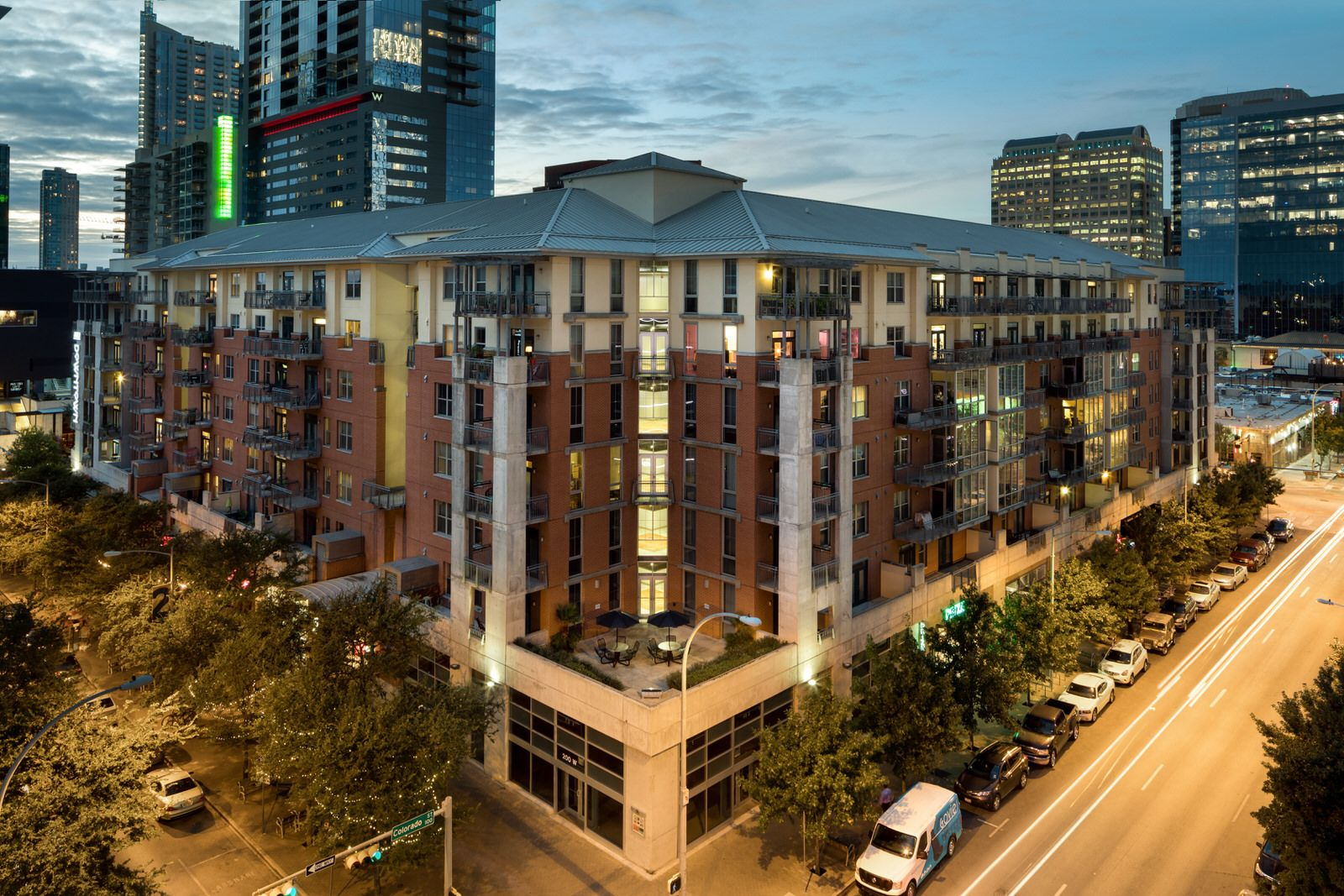 Our Austin apartments look even better at night. Austin