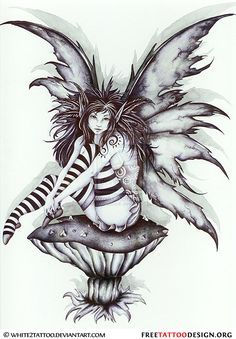 Fairies and skulls google search mystical magical for Skull fairy tattoos
