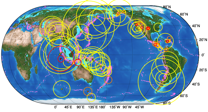 World map with recent earthquakes year 6 science earth volcanoes explore recent earthquakes a circle and more world map with recent earthquakes gumiabroncs Image collections