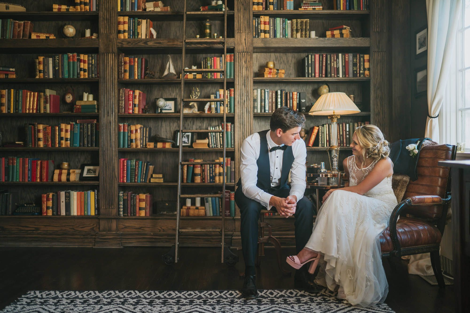 Library Wedding Manor House Library Wedding Couple By Elevate Photography Library Wedding Library Photo Shoot Wedding Photos