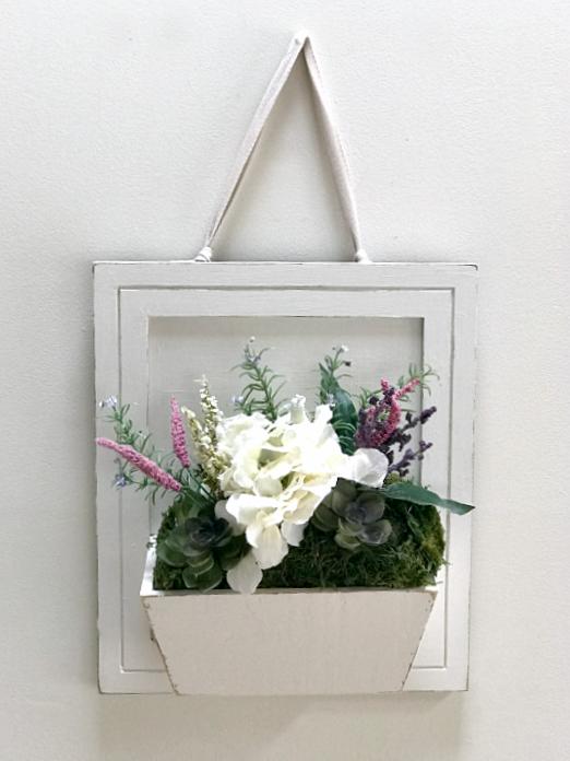Repurposed Cabinet Door Flower Box #woodenflowerboxes