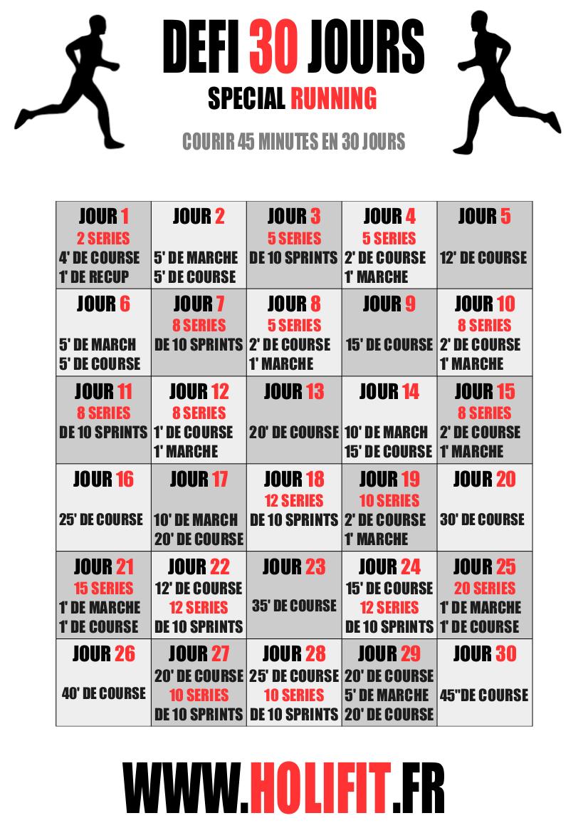 Ce défi de 30 jours vous propose une progression pour atteindre les 45  minutes de running consécutifs ! 0007756a0be