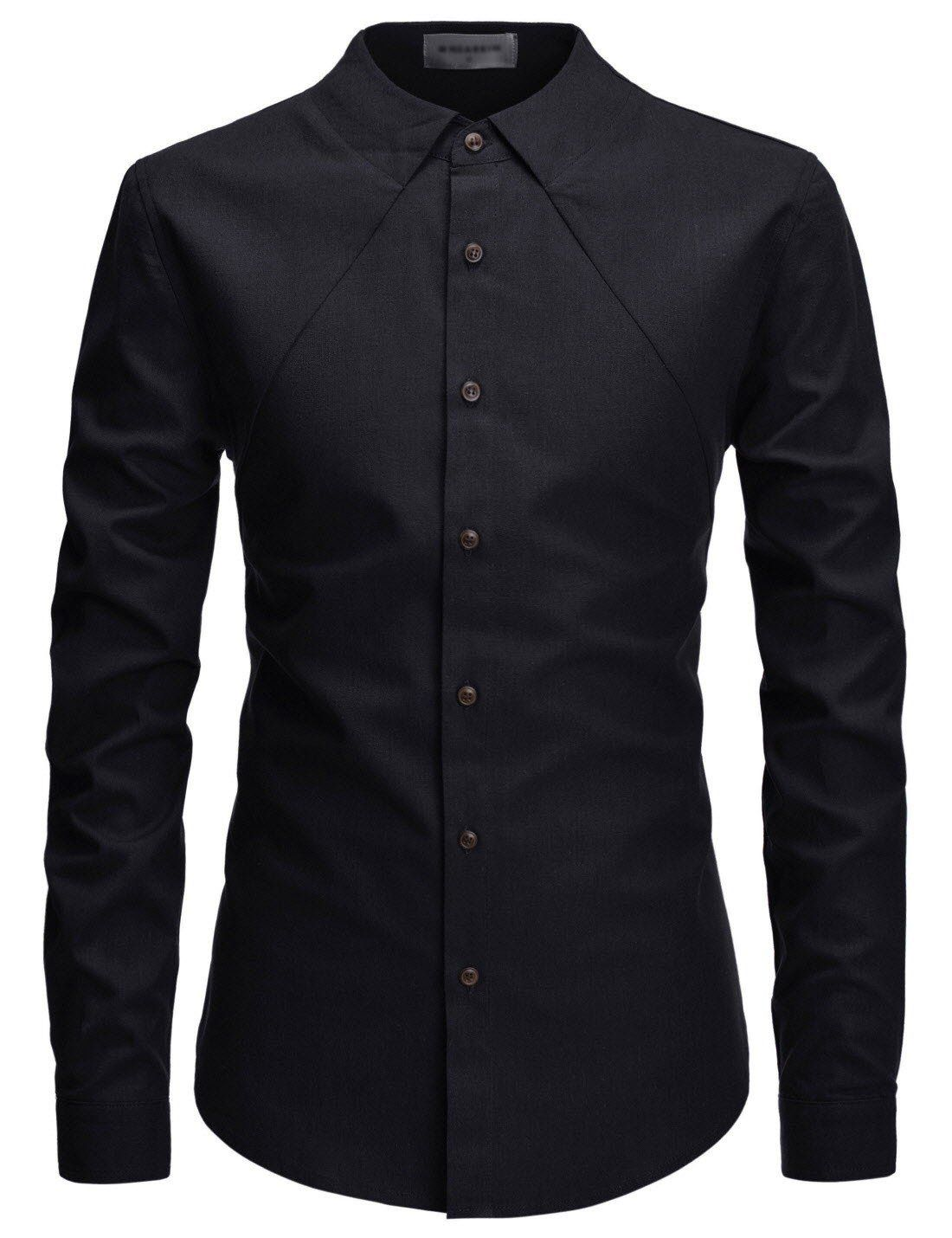 5df2743d Men's Modern Fit Ghost Collar Long Sleeve Button Up in 2019 | Style ...