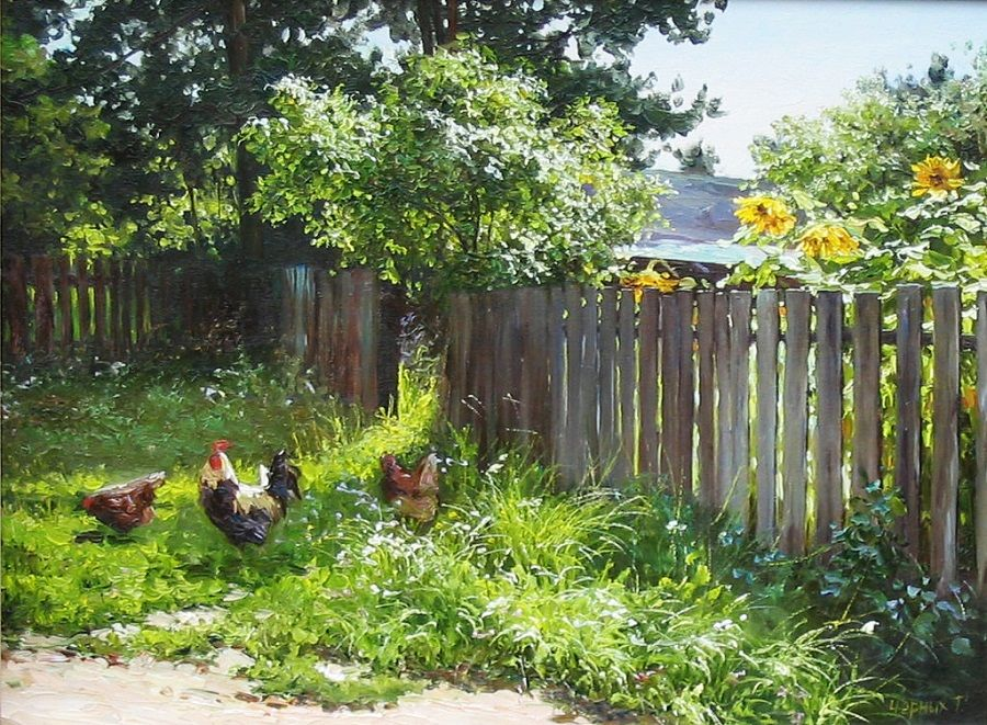 картинки мой двор в деревне талантливых женщин яркой