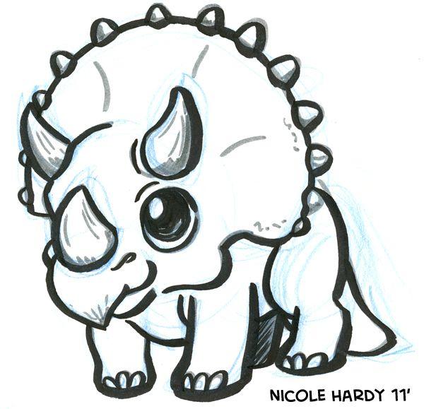 Dinosaur doodles | Kids wall decor | Pinterest | Dibujo, Páginas ...