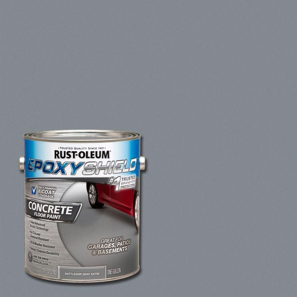 Battleship Gray Satin Low Voc Concrete Floor Paint Case Of 2 Battle