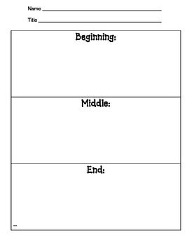 Various Graphic Organizers To Use With Various Stories And