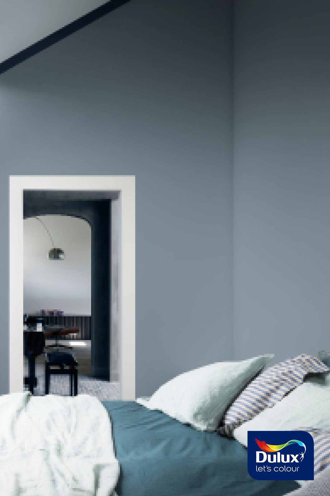 Create A Cosy Bedroom Using A Blue Grey Shade Grey Colour
