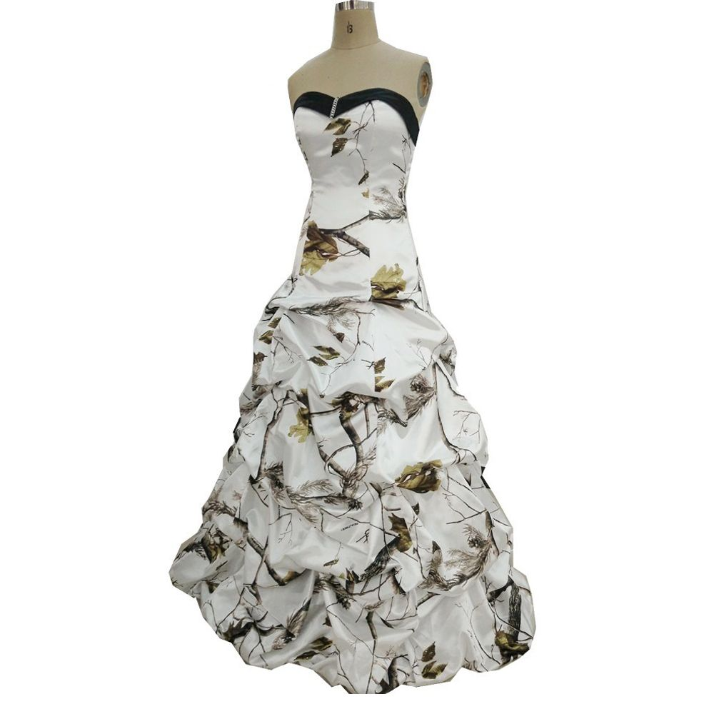 New arrival sweetheart camo wedding dresses floral printing wedding