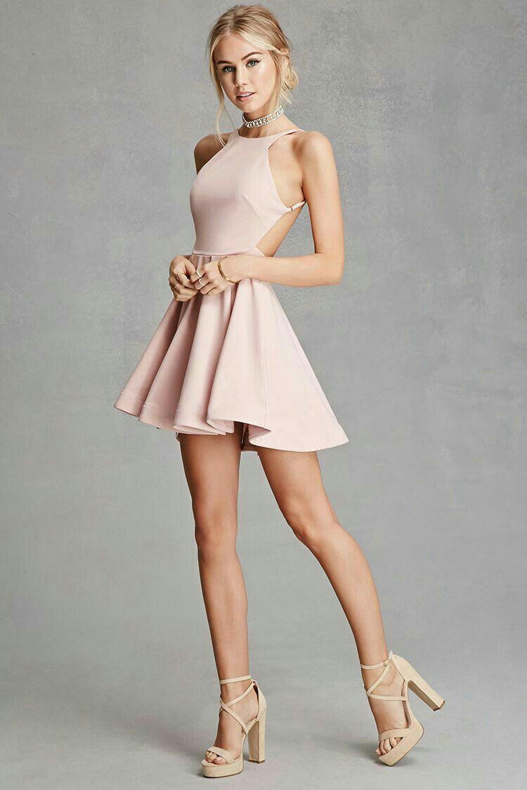 Vestidos rosas cortos de fiesta