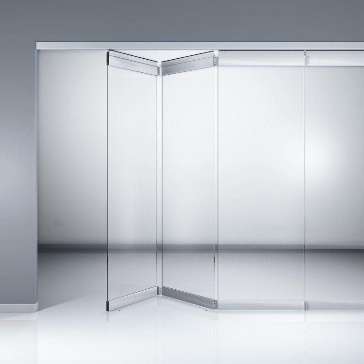 Funktionale Falttür Aus Glas Mit Metallen Kanten Gallery