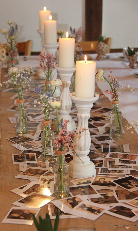 Tischdekoration zum 80. Geburtstag - Tischlein deck dich