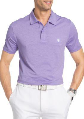 7e2cb5d4 Izod Men's Short Sleeve Title Holder Space Dye Polo Shirt - Purple - 2Xl