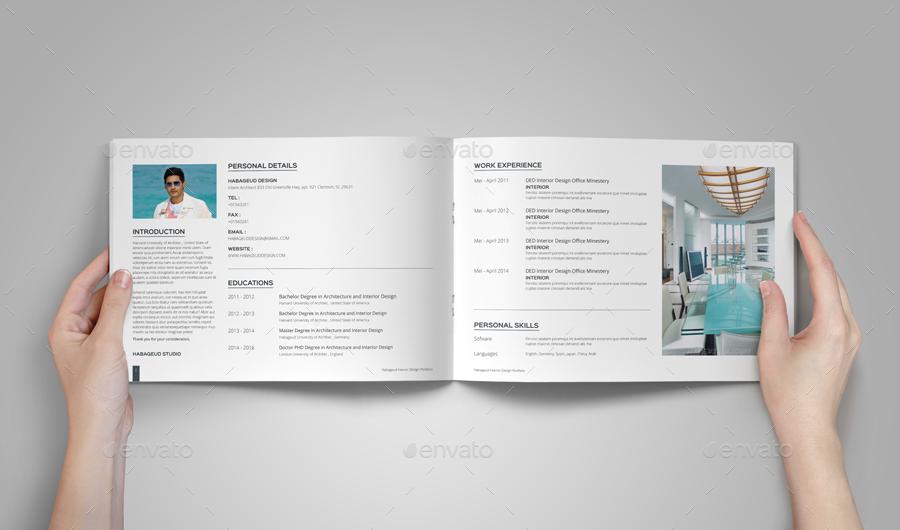 Interior Design Portfolio Template Portfolio Template Design