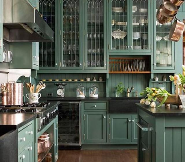 15 Best Feng Shui Kitchen Colors Dark Green And Br Alpine Upper Cabinets In Or Tall Furniture