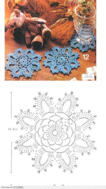Pin By Patrycja Wawiak On Crochet Christmas Pinterest Coaster Patterns Diagrams A Few Pretty Snowflakes Motif And