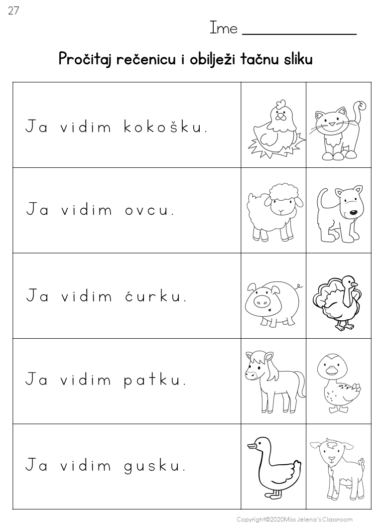 Bosnian Farm Animals Worksheets Latin Alphabet Language Learning Apps Animal Worksheets Alphabet