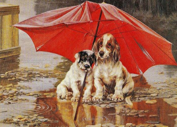 Red Umbrella - Cross stitch pattern pdf format