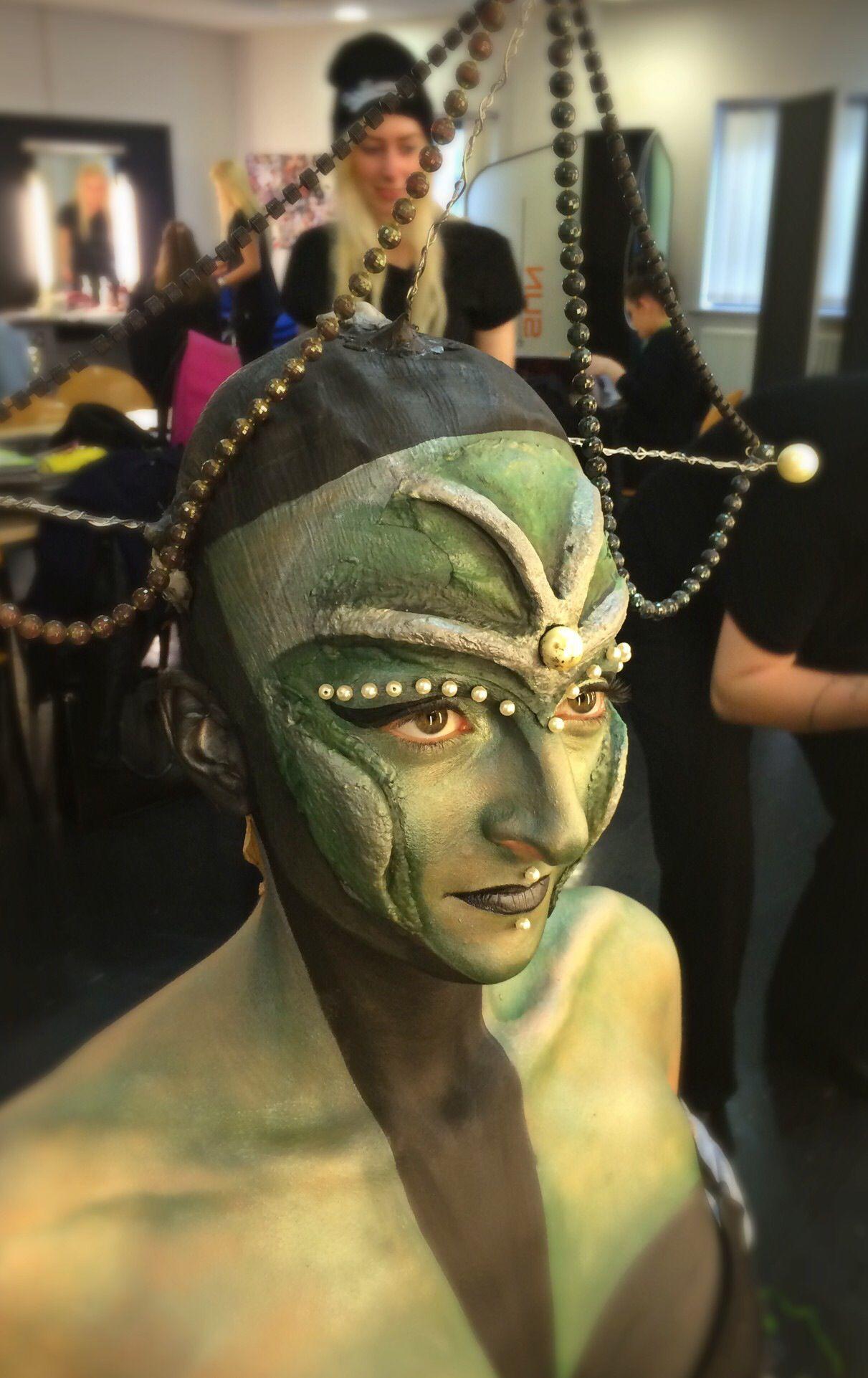 Alien makeup prosthetics by Zoe Butterworth Makeup