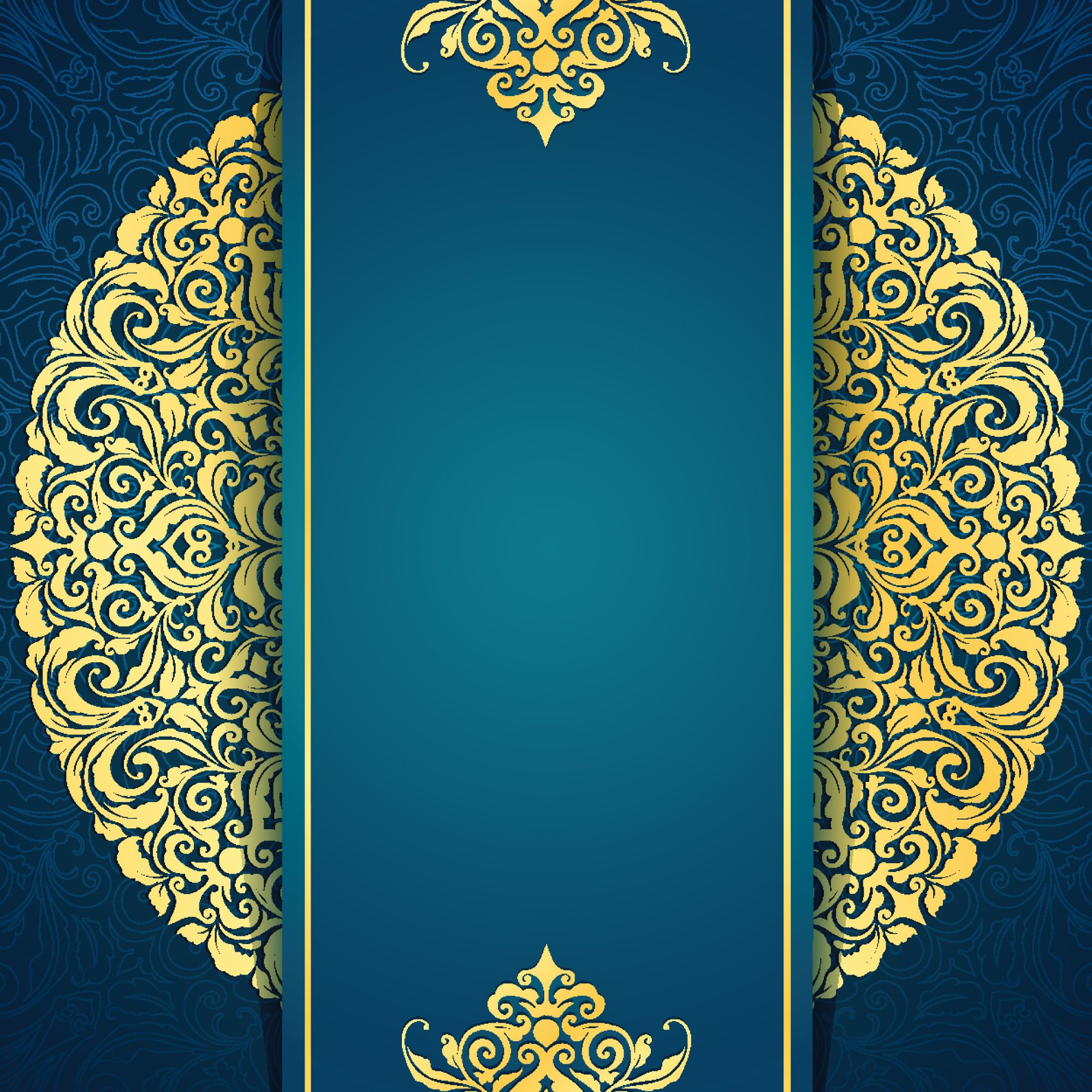 Background For Wedding Invitation: Continental Gold Invitation Background Material Vertical