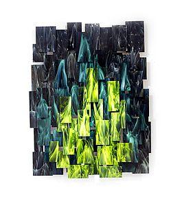 """Nuclear by Karo Martirosyan (Art Glass Wall Sculpture) (42"""" x 33"""")"""